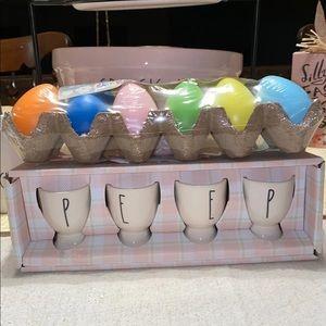 Rae dunn PEEP egg holders & Eggs🐣